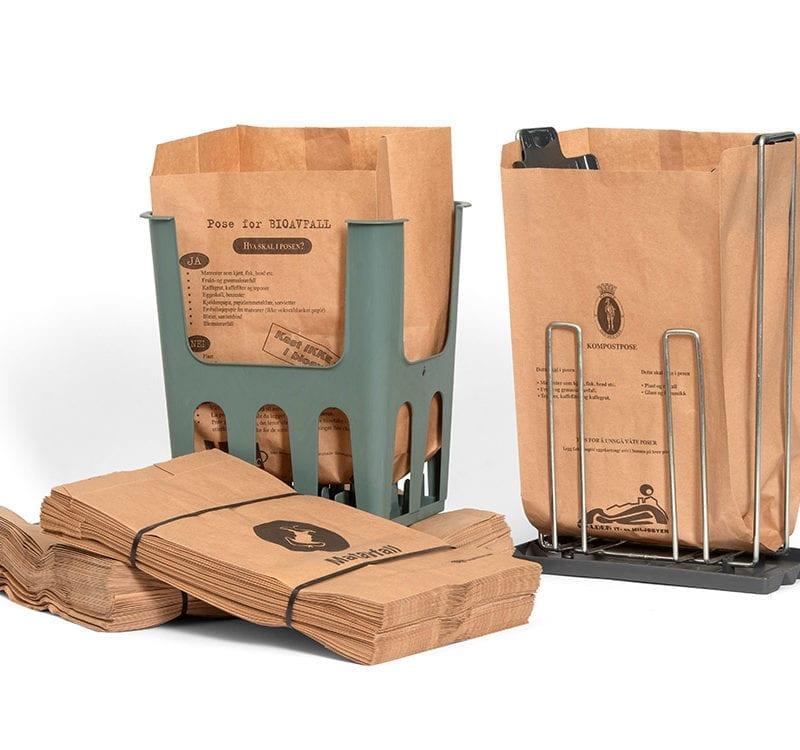 Papirposer for organisk avfall